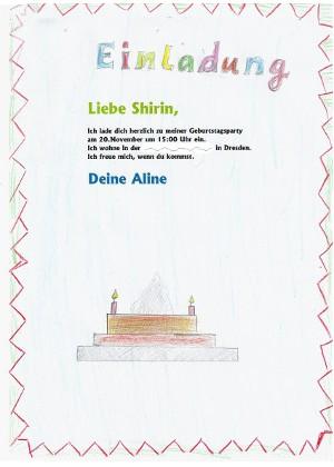 Deutsch, Klasse 2, Einladungen