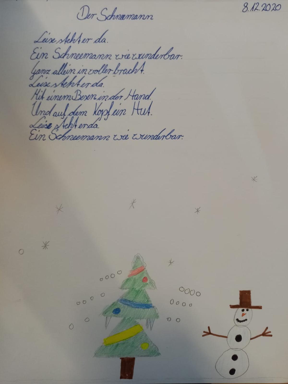 Deutsch, Klasse 4, Rondelle (Gedichte) schreiben