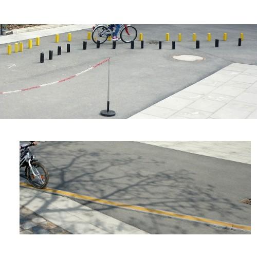 Sachunterricht, Fahrradtraining auf schmalem Brett und im Parcour